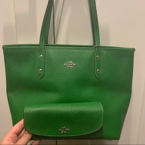 Matching COACH purse and wallet